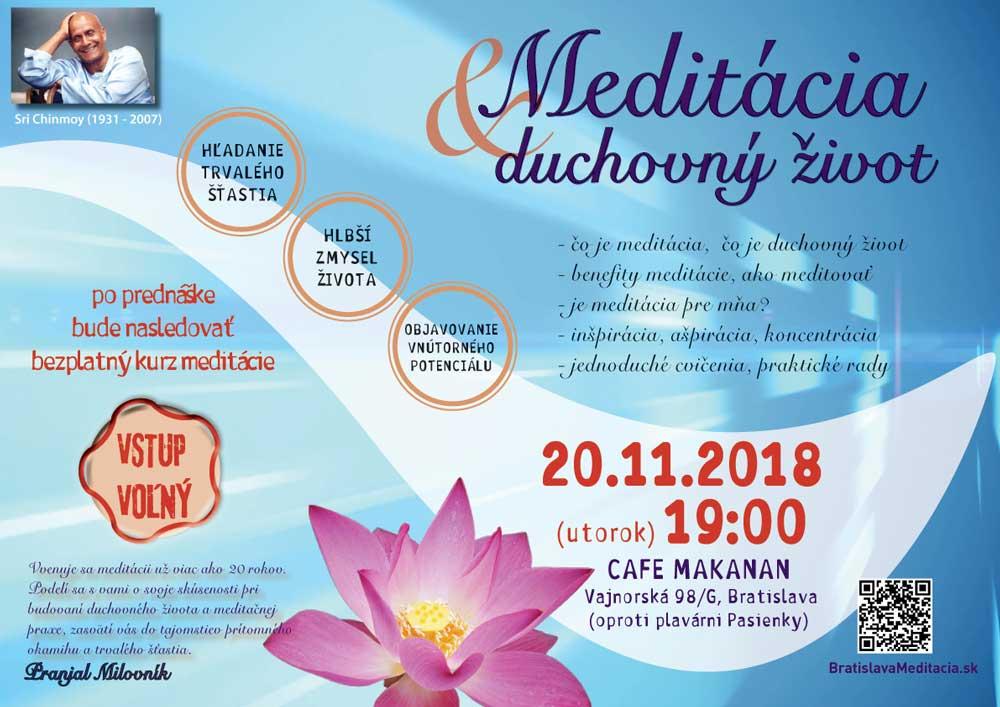Prednáška: Meditácia a duchovný život