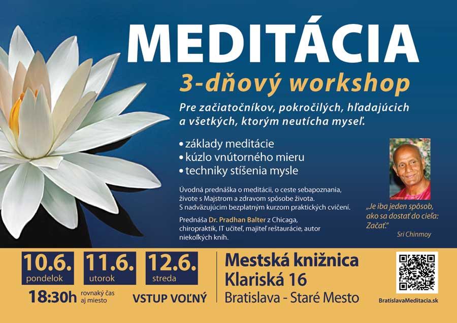 Meditácia - tri dni s doktorom P. Balterom z USA