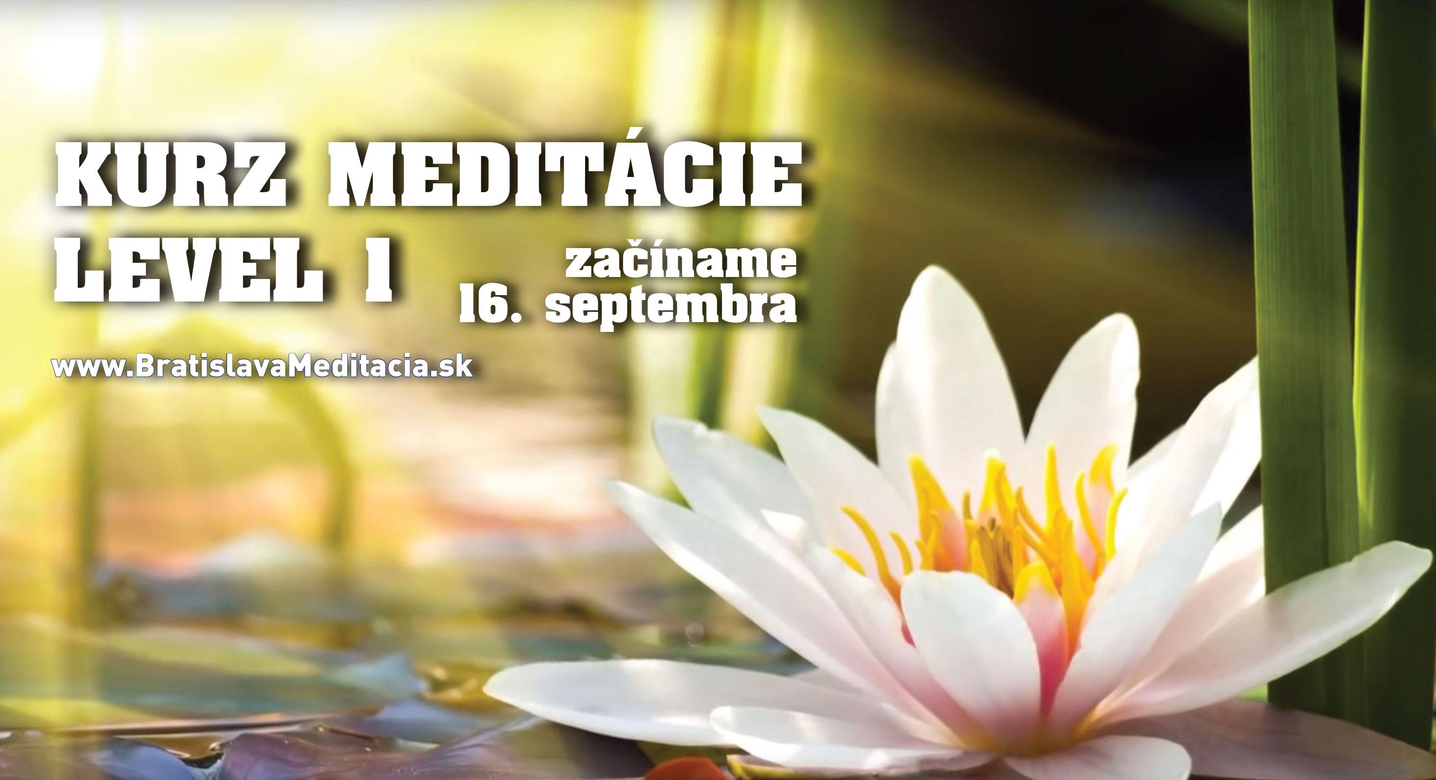 Kurz meditácie Level 1