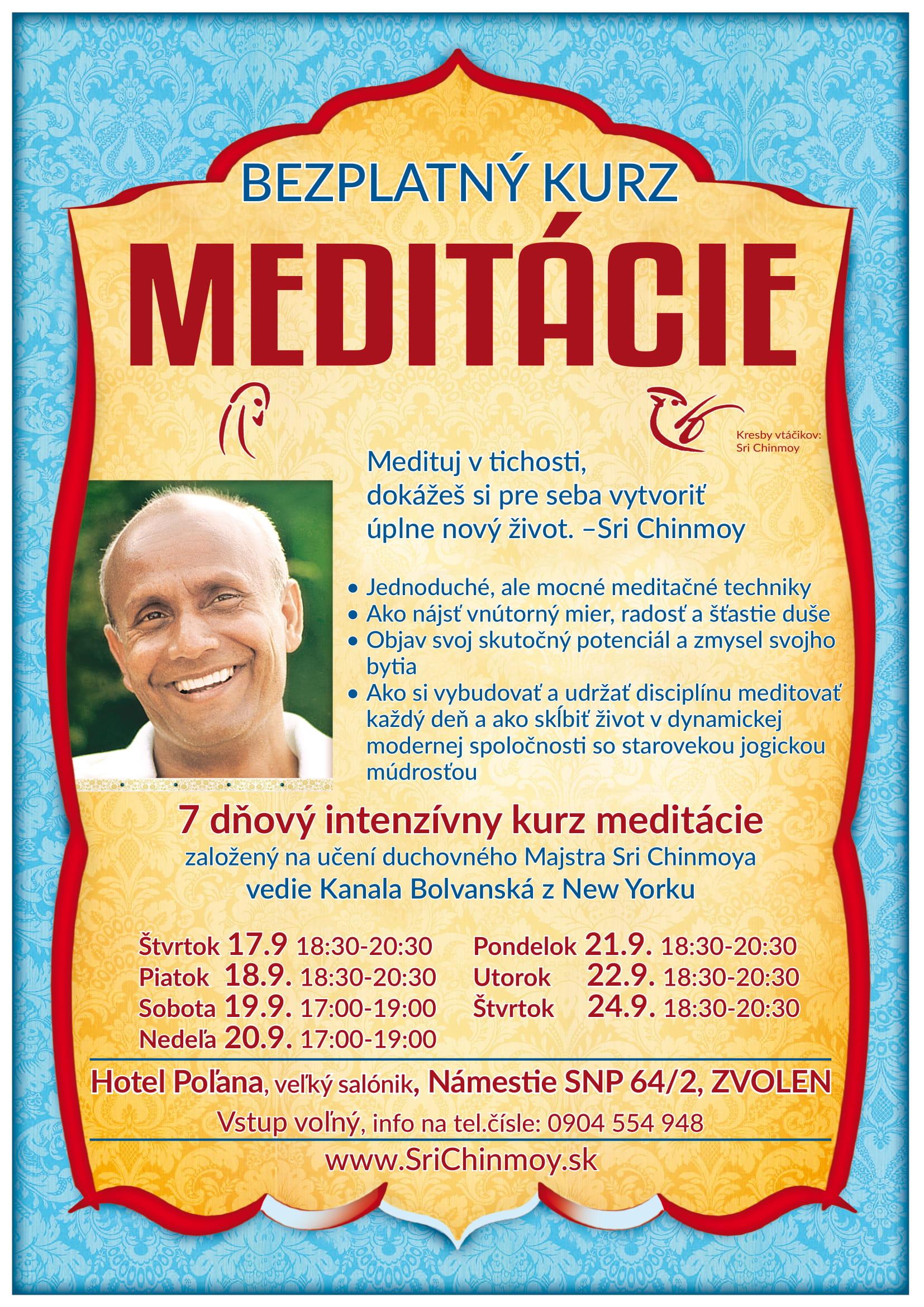 7 dňový intenzívny kurz meditácie vo Zvolene